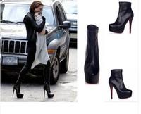 Sexy Womens Stars Ankle Boots Platform Killer Heel Pump Black Party Nightclub