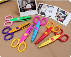 Free shipping DIY Craft Scissors Creative scissors High quality Decorative Wave lace Edge Craft Scissors, 10pcs/lot(China (Mainland))