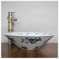 basin Bathroom Sinks Bowl Sink/wash basin washbasin The Jingdezhen ceramic art basin-Mediterranean Countertop basin(China (Mainland))