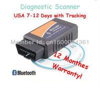 Professional Diagnostic Tool OBD2 OBD-II ELM327 V1.5 Bluetooth Car Diagnostic Interface Scanner free shipping dropshipping