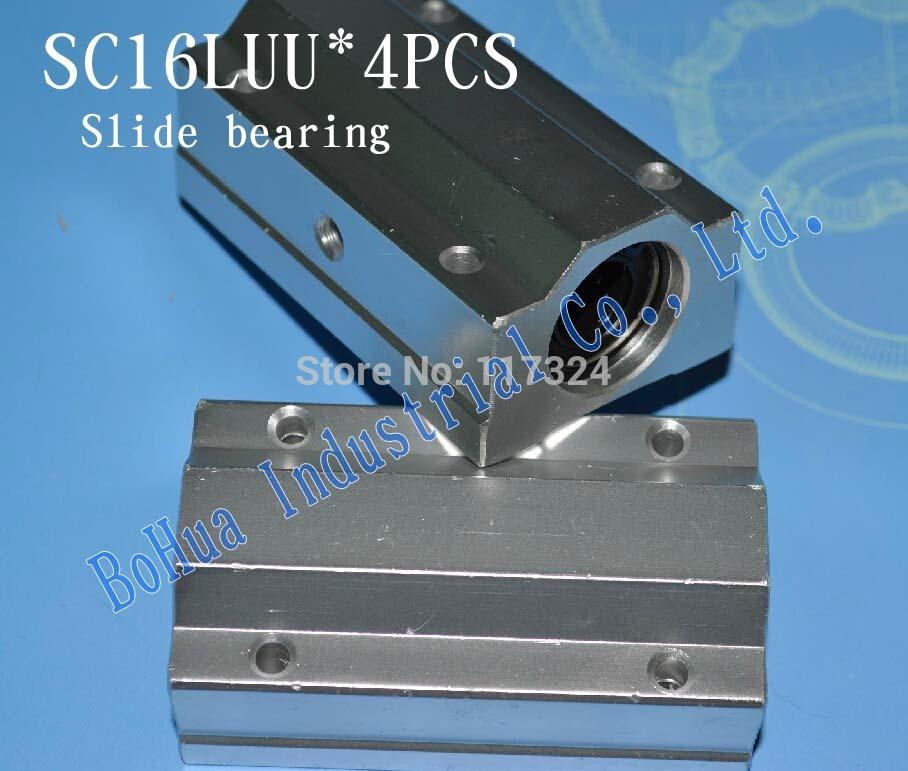 4 шт./лот SC16LUU SCS16LUU 16 мм линейный движение слайд единицы удлиняет XYZ чпу