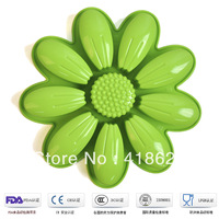 Silikit Free shipping factory wholesale silicone cake mould baking pan sun flower