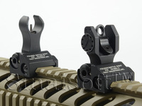 Troy Metal Iron Sights, Front and Rear Sights, Folding Back-up Sights Free Shipping