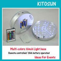 DHL&Fedex Free shipping 19 RGB led wedding lights E-Luminator -6inch LED centerpiece lighting