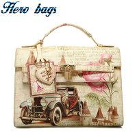 Artmi2013 spring fashion vintage preppy style oil painting print cross-body women's handbag