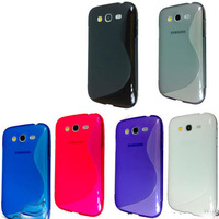 hot sell  free shipping  20pcs/lot  S-line S line Curve Gel Case Cover For Samsung Galaxy Grand Duos i9080 i9082