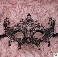 The diamond half face hollow metal Venice rhinestones metal mask dance princess noble mask