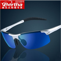 2014 newest Bertha aluminum magnesium polarized sunglasses male driving mirror driver sports sunglasses glasses For promotion