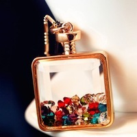 Min Order 15$ Free Shipping 2013 Newest Vintage Style Perfume Bottle Fashion Necklace Good Quality Wholesale Hot HG0330