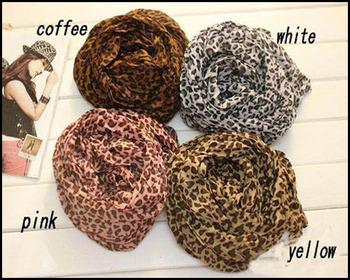 2013 HOT Fashion Animal Print Shawl Leopard grain scarf Cotton Blends Free Shipping