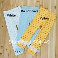 Free shipping Wholesale children girls leggings baby girl's tights/pants flower printing bow decoration