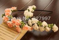 5x Foam rose flower headband DIY flowers crown hearwear Hawaii headpiece Alice band NW02 in free shipping