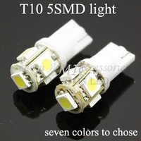 Car Bulbs 194 T10 5050 5 SMD Auto LED Lights bulbs clearance light W5W seven colors to chose in free shipping