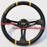 MOMO Steering Wheel Deep Dish Racing Steering Wheel Yellow Drifting Car Steering Wheel