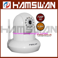 Foscam 1.0 mega pixels HD wifi wireless ip network camera H.264 with IR-cut SD card slot Apple Android Windows system support