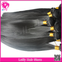 Luffy Hair Promotion Top Quality 7A Mongolian Straight Virgin Hair Double Drawn Silky Straight Hair Weave Can Be Dyed Any Color