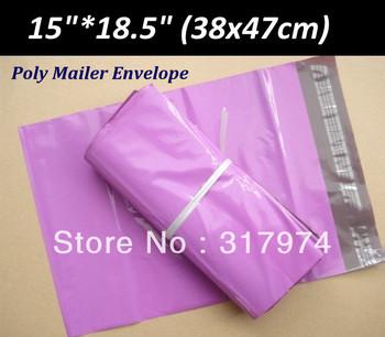 50Pcs/Lot Size: 15*18.5''  Poly Mailer Self Sealing Envelope Bags - Purple color