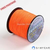 Free shipping 8 strands 30/40/50/60/70/80/90/100LB 1000M Multifilament Braide Fishing Line Spectra Braid Fishing Line -- SUNBANG