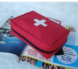 Travel Camping Home Work Medical Emergency Survival First Aid Kit Red