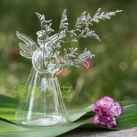 Free shipping Crystal hollow glass vase transparent hydroponic flower home decoration