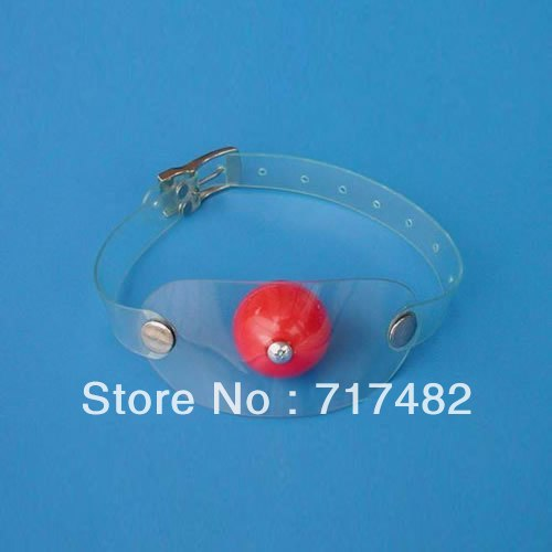 Plastic transparent plug Mouth the ball Sex toys Adult products(China (Mainland))