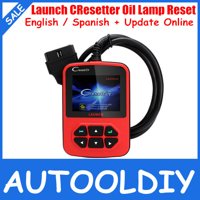 2013 Top-Rated Free Shipping Newest auto oil lamp reset tool 100% original ONLINE UPDATE color LCD display Launch CResetter(China (Mainland))