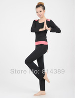 ladies' track suits Free shipping,Leisure soprts suit for outdoor activity, women's yoga wear in black and red color