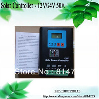 Hot Sale Solar Controller 50A 12V24V PWM Auto Recognition LCD Display For PV Charging Panel System