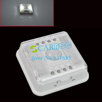Free Shipping 8 LED Light Wireless Infrared  Lamp PIR Auto Sensor Motion Battery White Case TK0035