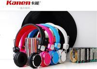 Free shipping Kanen IP-850 Foldable studio headphone for iPhone/mp3