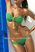 Wholesale New arrival bikini swimwear women push up 2013, green swimsuits for women 2013