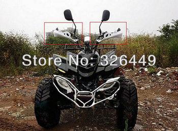 "TMS White Universal Motocross Dirt Bike ATV MX BMX 7/8"" Brush Hand Guard for Suzuki DR DRZ DS RM RMZ RM80"