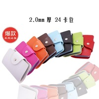 2013 Hot fashion PU Leather Business ID Name Card Holder Organizer Wallet Bank Credit Card Purse Bag Case Pouch BG004