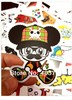 50pcs/lot Randomly Delivery hot popular patterns mini stickers 6-11cm luggage decal phone stickers laptop skins guitar box(China (Mainland))