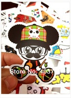 50pcs/lot Randomly Delivery hot popular patterns mini stickers 6-11cm luggage decal phone stickers laptop skins guitar box