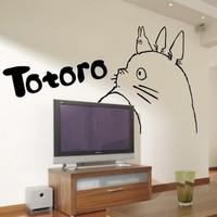 Free Shipping 96*92cm Scrub home decor wall stickers totoro tv