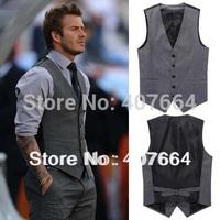 2014 new fashion Sale M 14.99 freeshpping men vests Beckham men waistcoat undershirts tank tops men's casual suit vest