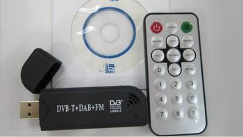 free shipping Mini Digital USB DVBT TV FM DAB Tuner TV stick DVB T Dongle support windows7& linux OS Satellite TV receiver