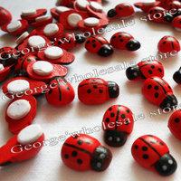 300pcs/lot,13x9mm,Wooden ladybug stickers,Sponge stickers,Easter decoration,Home decoration,Kids toys.Promotion cheap.