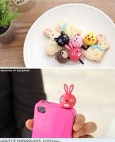 200pcs/lot.lNew cartoon cap for iphone ipad ipod i9100 i9300  Anti Dust Plug Stopper cute animal Dustproof plug,5 models