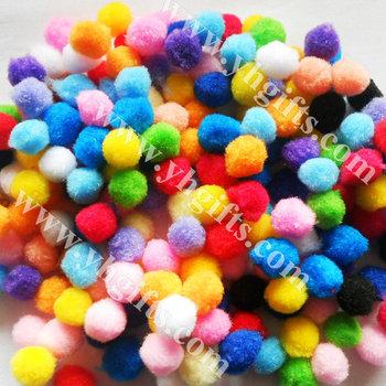 500pcs/lot 18mm Pompoms Multicolor pom-pom DIY accessories Handmade toys Doll head Freeshipping OEM