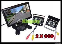 "2X 18 IR CCD REVERSING CAMERA +7"" TFT LCD MONITOR CAR REAR VIEW KIT FREE 10M CABLE"