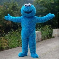 Sesame Street Blue Cookie Monster Mascot costume Fancy Dress Adult size Halloween  free shipping