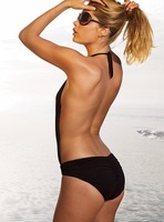 Free shipping,2013 new`s attached the bikini for women Good Quality Halter One Piece Swimsuit Black Bikinis