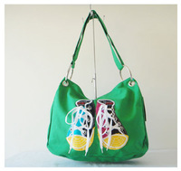 Fashion shoulder bag, DKB-4234-F0042 green,,Size:42x34cm,The large capacity,leisure bag, canvas,7 different colors,free shipping