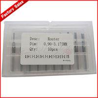 10pcs New 0.90-3.175mm PCB Print Circuit Board endmills/CNC router tool/mini end mill set/Free Shipping