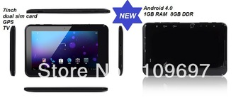 android 4.0 tablet pc +dual sim card+gps +tv +wii+bluetooth fast shpping+HDMI out