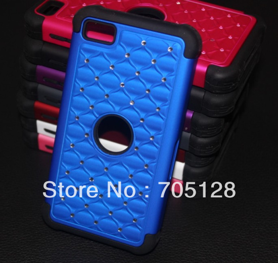 For BlackBerry Z10 PC + Silicone Stars Crystal Diamond Bling Hard Case(Hong Kong)