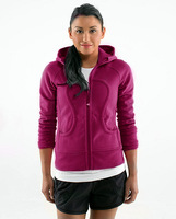 Lulu lemon Lululemon scuba Lady Sport Athletic Jacket yoga wear coat Women's hoodies fashionable popular purplish red color 003