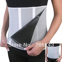 Free shipping 4 steps slimming belt body shaper waist adjustable loss weight belt waist supporter neoprene zipper waistband